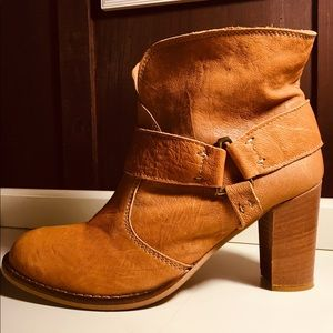 SUNDANCE Leather Ankle Boots/Size 40/Made in Italy